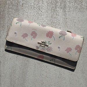 {Coach} Watercolor Floral Wallet